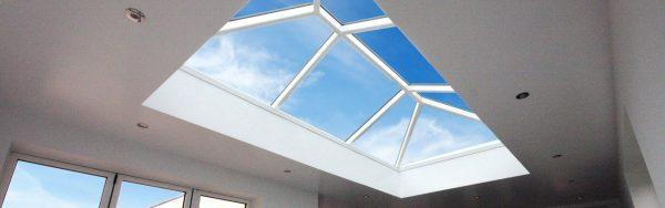 2 x Korniche Roof Lanterns // 1. 3014 x 1514mm, Ambi Aqua 1.0 Self Cleaning Glass, Grey External & White internal // 2. 2415 x 1264mm, Ambi Aqua 1.0 Self Cleaning Glass, Grey External & White internal.