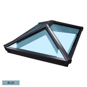 Korniche Roof Lantern - 3180 x 1677mm, Grey external & internal frame with Ambi Blue 1.2 Glass